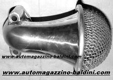 FIAT 500 F/L TROMBONCINO CURVO ALLUMINIO LUCIDO  FILTRO ARIA CARB.26 weber *