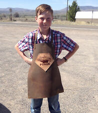 Kid's Shop Apron protective leather for blacksmithing, wood work, fabrication