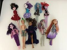 Monster High Bundle 9 Dolls, Clothes Good Condition