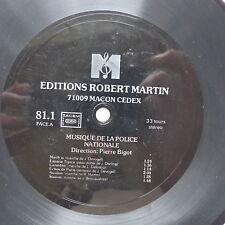 Disque souple Flexi Ed ROBERT MARTIN Musique de la Police Nationale Mach in ..