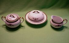 Antique Noritake covered sugar & creamer and butter dish in PATRICIAN pattern.Ex