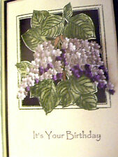 Lilac Flowers  (U get photo #2) L@@K@ examples MAKE AN IMPRESSIONS RUBBER STAMP