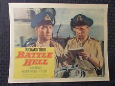 "1957 BATTLE HELL 14x11"" Lobby Card VG Richard Todd, William Hartnell"