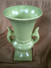 Vintage Collectible Lime Green Genuine Haeger Urn Vase Dble Handle Signed 741D