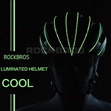 RockBros Luminated Helmet Unisex Road Bike MTB 57cm-62cm Black Green New