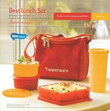 TUPPERWARE BEST LUNCH BOX WITH INSULATED BAG (NEW DESIGN & COLORS)- 1 PCS