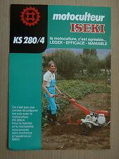 Prospectus  Motoculteur  ISEKI  KS 280 / 4   Non daté brochure catalogue tractor