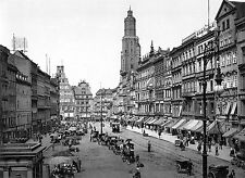 Market Square in Breslau Germany now Wrocław Poland 1890-1900. View from East