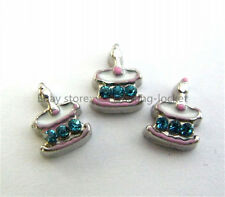 10pcs BIRTHDAY CAKE  Floating charms For Glass living memory Locket FC0650