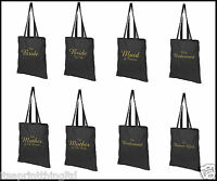 Printed Wedding Party Bridal Tote Bags, Bridesmaid, Favour Hen Party Gift Bags