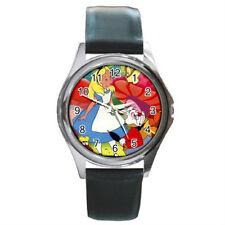 Alice in wonderland watch (round metal wristwatch)