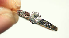 Antique ART DECO Platinum Diamond Solitaire 18ct Gold Ring