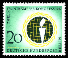 EBS West Berlin 1957 World Veterans' Federation Michel 177 MNH**