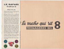JEU VACHE QUI RIT N°8 LE SAFARI BEL BENJAMIN RABIER CREATION J.R MONTFORT PARIS