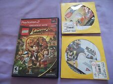 Lego Indiana Jones,Ncaa Football & Eytoy Play 2 Playstation 2 Lot. PS2