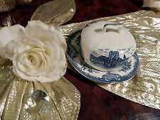 edle Butterdose Johnson Bros England Old Britain Castles blau