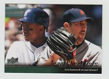 DETROIT TIGERS TEAM CHECKLISTS 2010 UPPER DECK#580 C. GRANDERSON & J. VERLANDER