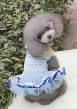 Various Puppy Small Dog Cat Pet Bow Bubble Lace Maiden Dress Tutu Apparel Size S