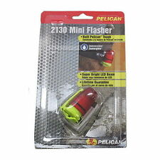NRS Pelican 2130 Mini Flasher Strobe LED Light w/ Red Lens Boat Kayak Car Canoe
