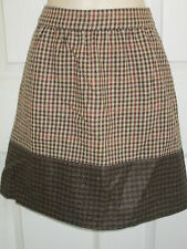SIZE 8 J.CREW BROWN WOOL MINI SKIRT NWT
