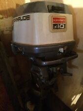 LOOK 40 HP EVINRUDE NORSEMAN OUTBOARD CLEAN USED LOW HOURS FRESH WATER MOTOR