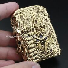 Luxury Hand-carved Lighter Shell For Zippo 6V004GC Biker Accessory(Just Shell)