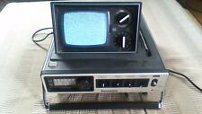 VINTAGE PANASONIC MODEL #5028 PORTABLE POP-UP BW TV  AM FM RADIO WORKS! 1978
