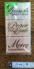 Hero Arts Traditional Christmas Messages Woodmounted Rubber Stamps Set Of 3
