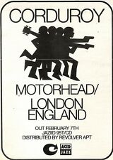 12/2/94pgn24 CORDUROY : MOTORHEAD/LONDON ENGLAND ADVERT 7X5""
