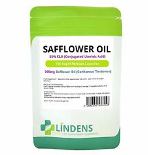 Safflower Oil 300mg (50% CLA) fat burner, anti ageing (100 capsules) [UK MADE]