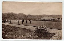 SCOTSTOUNHILL BOWLING GREEN AND TENNIS COURT: Glasgow postcard (C6374)