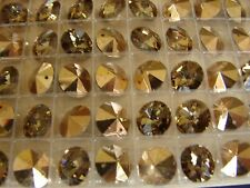 Swarovski Crystals - Lot of 72 Comet OR 24k gold coated 10mm - Austrian