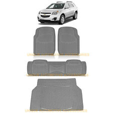 CHEVY EQUINOX CHARCOAL GRAY HEAVY DUTY RUBBER FLOOR MATS & CARGO TRUNK MAT 4PC