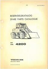 VOLVO BM 4200 WHEEL LOADER PARTS MANUAL