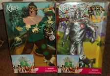 "WIZARD OF OZ ""KEN"" DOLLS - SCARECROW & TIN MAN - Lot of 2 - NEW Factory Sealed"