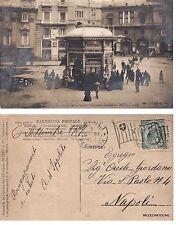 # NAPOLI: PIAZZA S. FERDINANDO- CHIOSTRO LUMINOSO MICCIO & Cia- fotocart. 1907