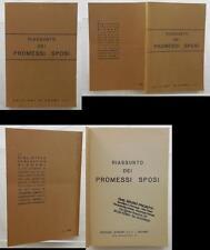 V0145 LIBRO RIASSUNTO DEI PROMESSI SPOSI DI ALESSANDRO MANZONI DEL 1988