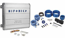 New Hifonics Zeus ZRX616.4 600 Watt RMS 4 Channel Car Audio Amplifier+Amp Kit