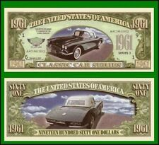 100 Factory Fresh Novelty 1961 Corvette Car Dollar Bill