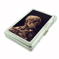 Vincent Van Gogh Skull Smoking D 179 Cigarette Case Built in Lighter