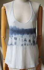 RAQUEL ALLEGRA TIE-DYE COTTON-BLEND JERSEY TANK TOP 1 UK 8
