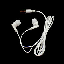 MP3 MP4 3.5mm Earbud in Ear Earphone headphone For PDA PSP Players Laptops White