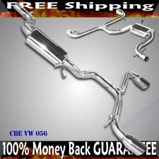 "EMUSA SS Catback Turbo Exhaust for 09-13 VW Golf Vi GTi 2.0T MK6 3.5"" Tip"