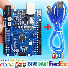 Arduino Uno R3 Compatible Development Board ATmega328P & CH340G | Free USB cable