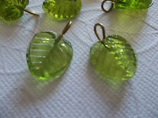 12 Olive Green Leaf Charms Beads Leaves with Brass Loops 13mm X 12mm