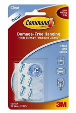 Command 17024CLR Small Clear Refill Strips, 12 Strips