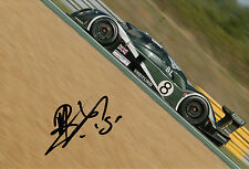 Mark Blundell Hand Signed Team Bentley 12x8 Photo Le Mans.