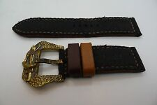 MAYS BERLIN CANVAS CUSTOM STRAP 26MM PANERAI RADIOMIR BRONZE BUCKLE
