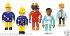 New Fireman Sam 5 pack articulated figures Norman, Penny, Sam, Tom & Nurse Flood