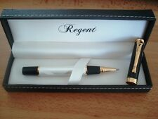 ROLLER laque noir blanc nacre REGENT coffret tres distingue luxieux original